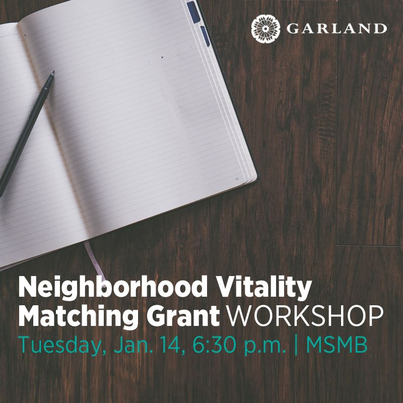 Neighborhood Vitality Matching Grant Workshop - Tuesday, Jan. 14, 6:30 p.m. | MSMB (click here to re