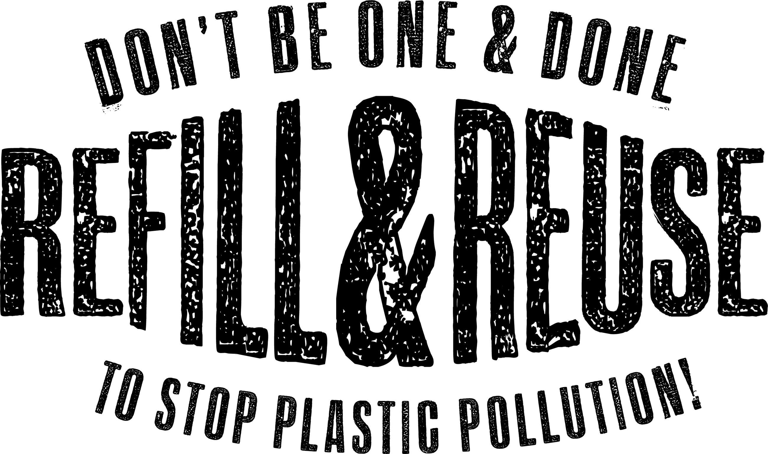 Refill and Reuse to Stop Plastic Pollution